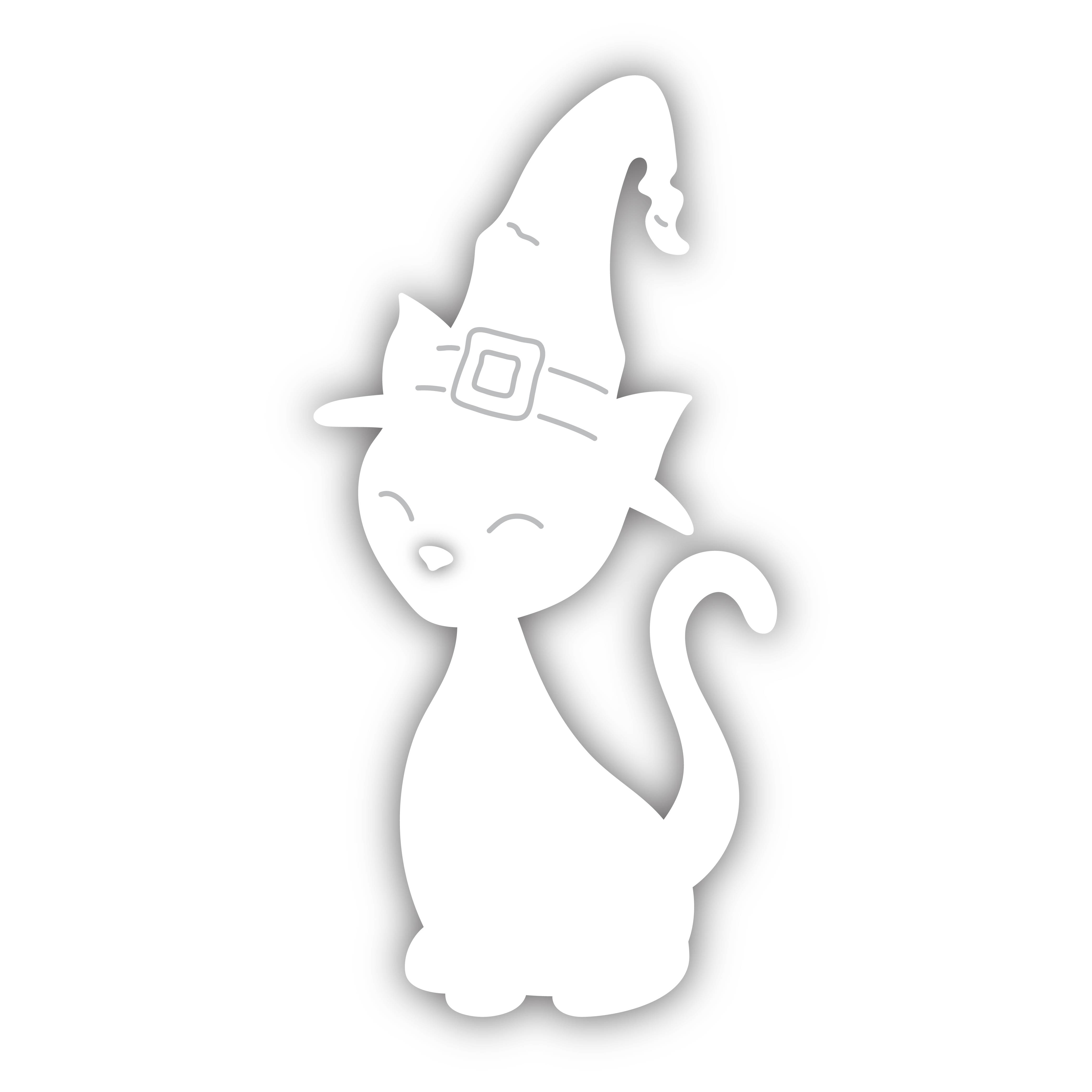 Simon Says Stamp WITCH CAT Wafer Die