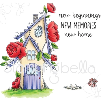 Stamping Bella Cling Stamp TINY TOWNIE FAIRY GARDEN HOUSE Rubber UM EB530