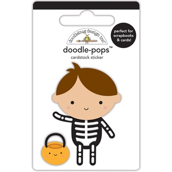 Doodlebug X-RAY Doodle Pops 3D Stickers BooVille 5757