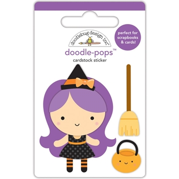 Doodlebug WANDA WITCH Doodle Pops 3D Stickers BooVille 5758