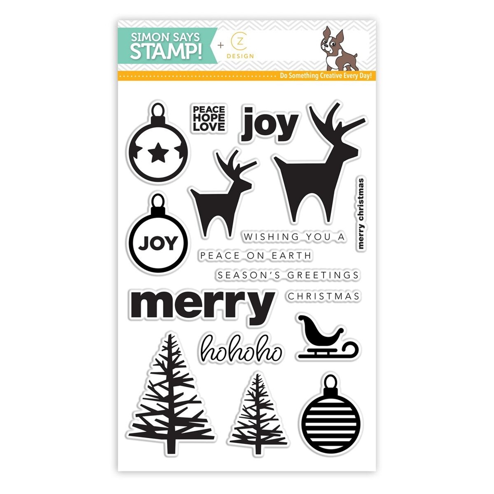 CZ Design Clear Stamps COOLEST YULEST CZ11 zoom image