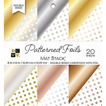 DCWV 6 x 6 PATTERNED FOILS Cardstock Stack PS-006-00105