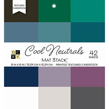 DCWV 6 x 6 COOL NEUTRALS Cardstock Stack PS-006-00100