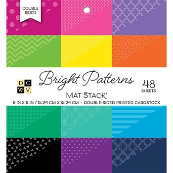 DCWV 6 x 6 BRIGHT PATTERNS Cardstock Stack PS-006-00103