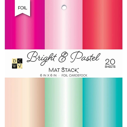 DCWV 6 x 6 BRIGHT & PASTEL Foil Cardstock Stack PS-006-00096