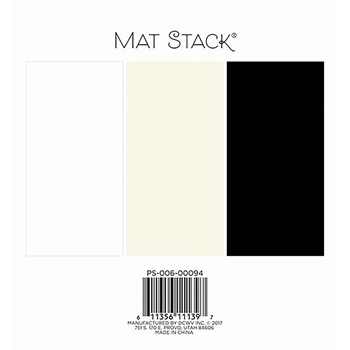 DCWV 6 x 6 BLACK, WHITE, & CREAM SOLIDS Cardstock Stack PS-006-00094