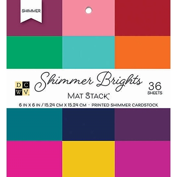 DCWV 6 x 6 SHIMMER BRIGHTS Cardstock Stack PS-006-00133