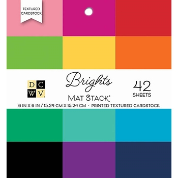 DCWV 6 x 6 BRIGHTS Cardstock Stack PS-006-00095