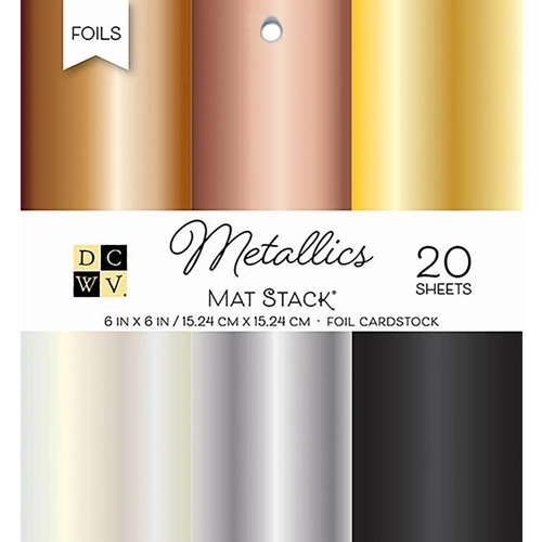 DCWV 6 x 6 METALLICS Foil Cardstock Stack PS-006-00101 Preview Image