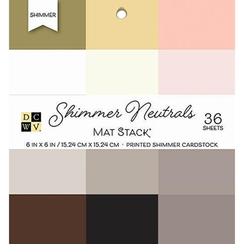 DCWV 6 x 6 SHIMMER NEUTRALS Cardstock Stack PS-006-00134