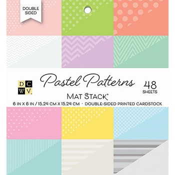 DCWV 6 x 6 PASTEL PATTERNS Cardstock Stack PS-006-00107