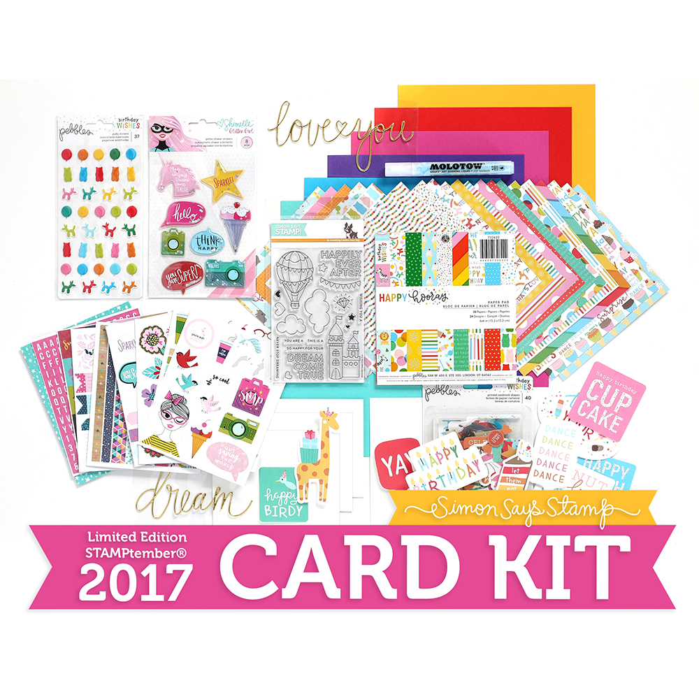 Limited Edition Simon Says Stamp STAMPtember Card Kit HOORAY! HSSK17