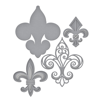 S4-800 Spellbinders FLEUR DE FRANCE Etched Dies by Stacy Caron