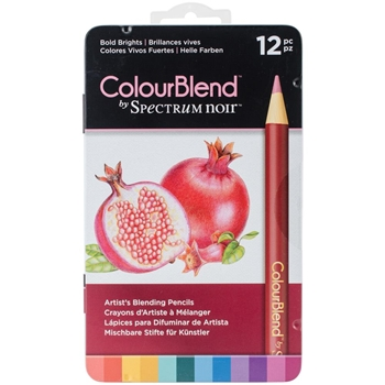 Crafter's Companion BOLD BRIGHTS Spectrum Noir ColourBlend Pencils SPECCB-BOLD12