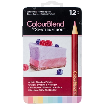 Crafter's Companion SOFT TINTS Spectrum Noir ColourBlend Pencils SPECCB-SOFT12