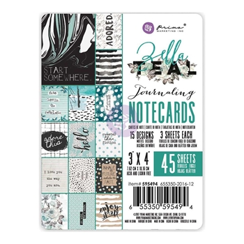 Prima Marketing ZELLA TEAL 3 X 4 Journaling Notecards 595494