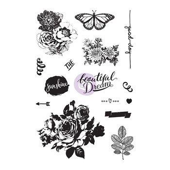 Prima Marketing ZELLA TEAL Cling Stamps 595524