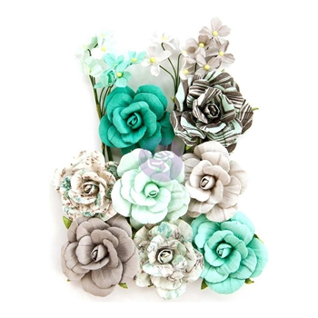 Prima Marketing TEAL LOVE Zella Teal Flowers 597146