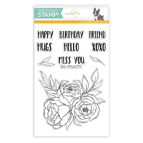 Studio Katia BLOOMING TRIO Clear Stamps SSS101784 Stamptember Exclusive Preview Image
