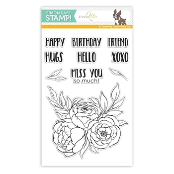 Studio Katina BLOOMING TRIO Clear Stamps SSS101784 Stamptember Exclusive