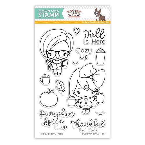 The Greeting Farm PUMPKIN SPICE IT UP Clear Stamps SSS101785 Stamptember Exclusive Preview Image