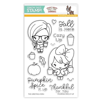 The Greeting Farm PUMPKIN SPICE IT UP Clear Stamps SSS101785 Stamptember Exclusive