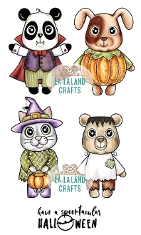 La-La Land Crafts Cling HALLOWEEN CRITTERS 3020