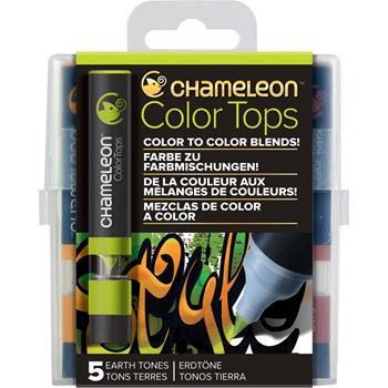 Chameleon EARTH TONES Color Tops Marker Set CT4503