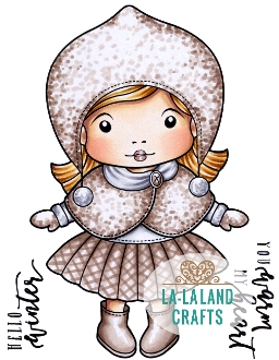 La-La Land Crafts Cling Stamp WINTER MARCI 5358