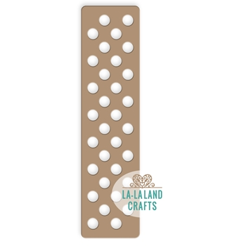 La-La Land Crafts POLKA DOTS PLATE Die 8323