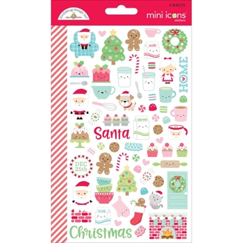 Doodlebug MILK AND COOKIES MINI ICONS Cardstock Stickers 5768