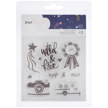 American Crafts Dear Lizzy STAR GAZER Clear Stamps 343435