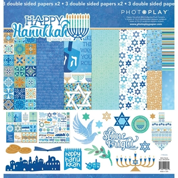 PhotoPlay HAPPY HANUKKAH 12 x 12 Collection Pack HK2939