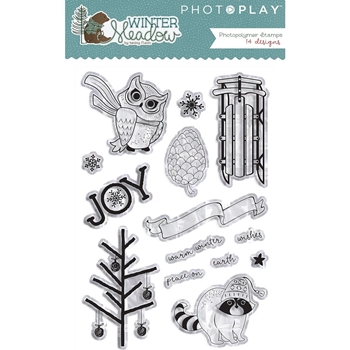 PhotoPlay WINTER MEADOW Clear Stamps WW2949