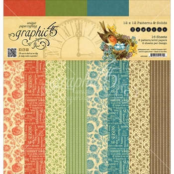 Graphic 45 SEASONS 12 x 12 Patterns & Solids Paper Pad 4501625