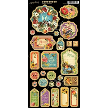 Graphic 45 SEASONS Chipboard 4501627