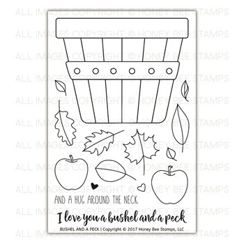 Honey Bee BUSHEL AND A PECK Clear Stamp Set HBST-79