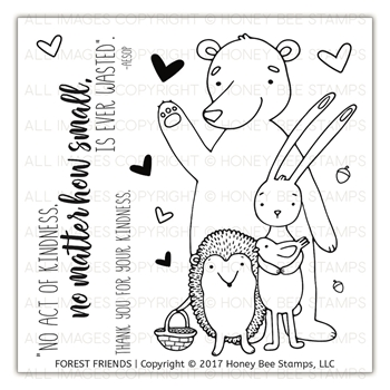 Honey Bee FOREST FRIENDS Clear Stamp Set HBST-87