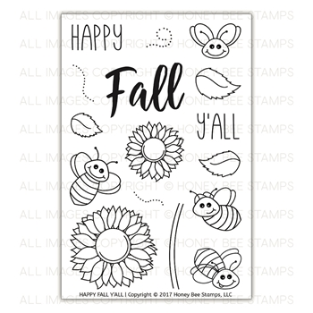 Honey Bee HAPPY FALL Y'ALL Clear Stamp Set HBST-78