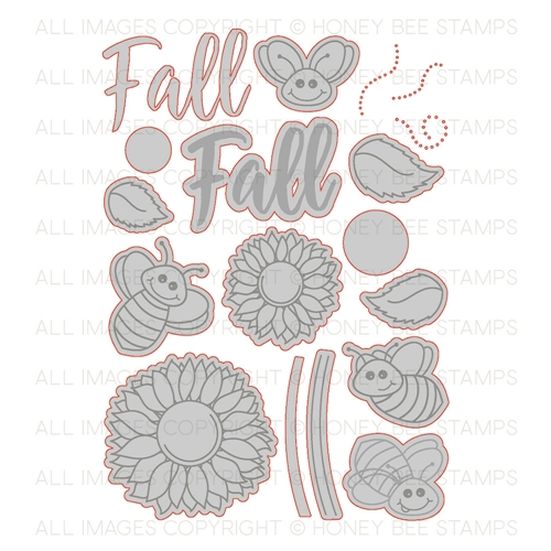Honey Bee HAPPY FALL Y'ALL Dies HBDS-78 Preview Image