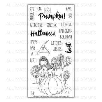 Honey Bee HEY PUMPKIN Clear Stamp Set HBST-83