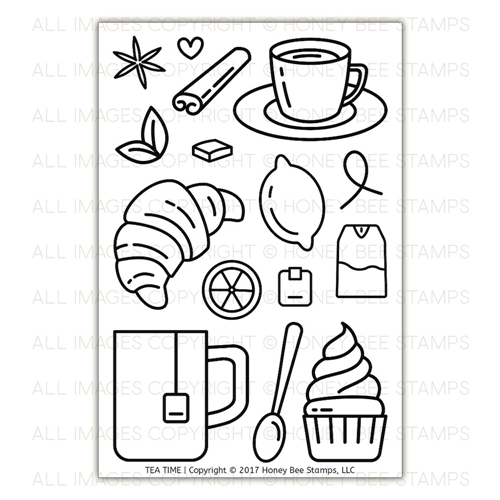 Honey Bee TEA TIME Clear Stamp Set HBST-82 Preview Image