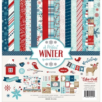 Echo Park A PERFECT WINTER 12 x 12 Collection Kit APW136016