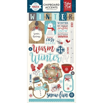 Echo Park A PERFECT WINTER Chipboard Accents APW136022