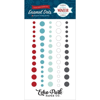 Echo Park A PERFECT WINTER Enamel Dots APW136028
