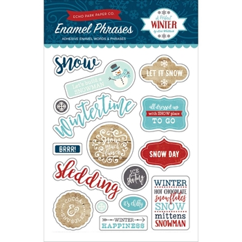 Echo Park A PERFECT WINTER Enamel Words & Phrases APW136062