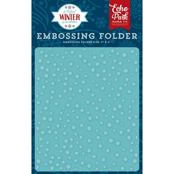 Echo Park SNOW DAY Embossing Folder APW136031