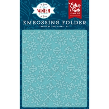 Echo Park FROSTY SNOWFLAKES Embossing Folder APW136032
