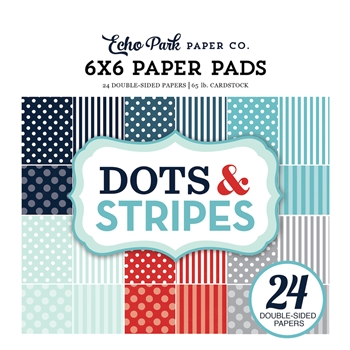 Echo Park WINTER DOTS AND STRIPES 6 x 6 Paper Pad DS170162