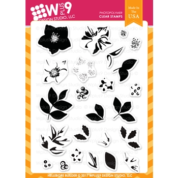 Wplus9 HELLEBORE BUILDER Clear Stamps CL-WP9HEBU